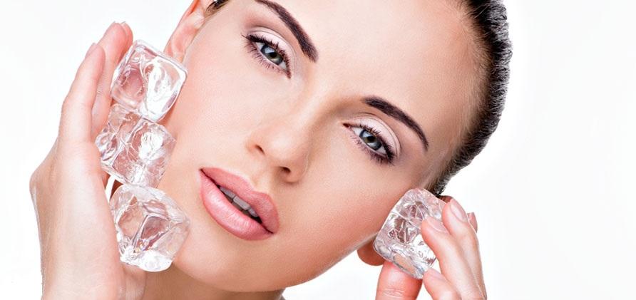 تاثیر یخ بهداشتی بر روی صورت
